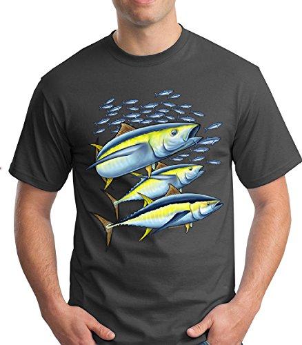 Allure & Grace Atlantic Blue Fin Tuna Under The Sea Premium Softstyle Men's Short Sleeve Tshirt (Large, (Atlantic Tuna)