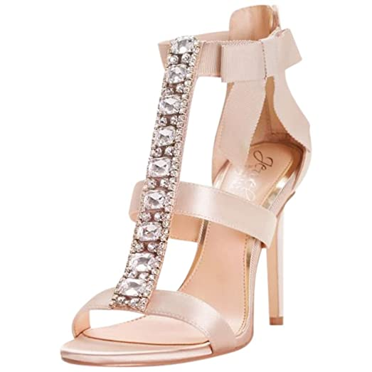 26a30e10a1871 Amazon.com | Embellished T-Strap Heels with Grosgrain Bow Style ...