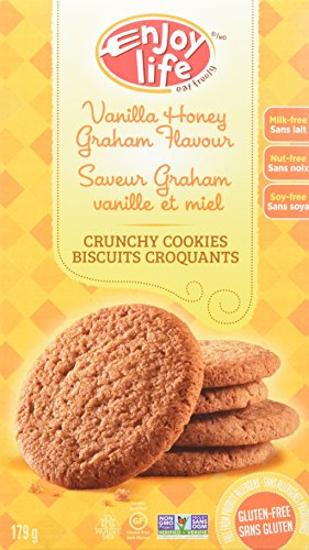 Enjoy Life Crunchy Cookies, Gluten-Free, Dairy-Free, Nut-Free and Soy-Free, Vanilla Honey Graham, 6.3 Ounce (Pack of 6) Vegan Honey