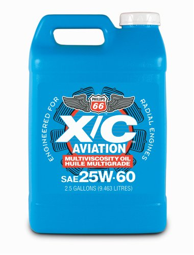 Phillips 66 X/C Aviation Oil 25w-60 Engine Oil - 4/1 gal. case