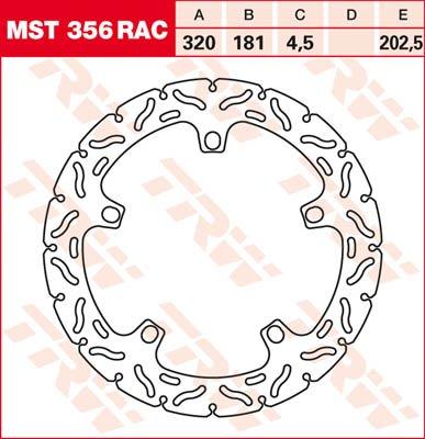 Lucas//TRW Bremsscheibe VORNE BMW R 1200 RT ABS 2003 RAC-Design