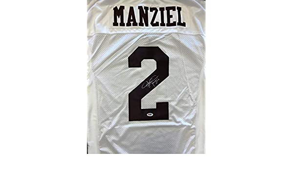 Johnny Manziel Autographed Jersey - White RookieGraph Stock  65594 - PSA DNA  Certified - Autographed College Jerseys at Amazon s Sports Collectibles  Store b9f74c432