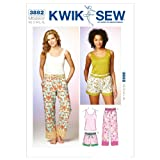 Kwik Sew K3882 Sleep Pants Sewing Pattern, Shorts and Top