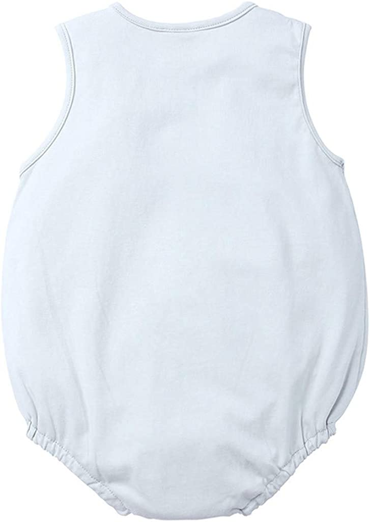 Vincent/&July Infant Baby Girls Boys Striped Romper 0-24 Months Long Sleeve Jumpsuit+Cartoon Dog Bibs