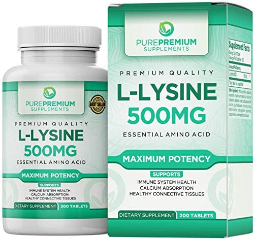 Premium L Lysine 500mg PurePremium Supplement