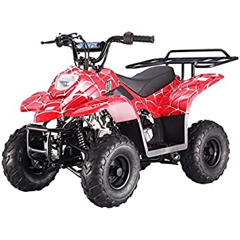 amazon com mountopz 110cc four wheelers 6 tires atvs red automotive