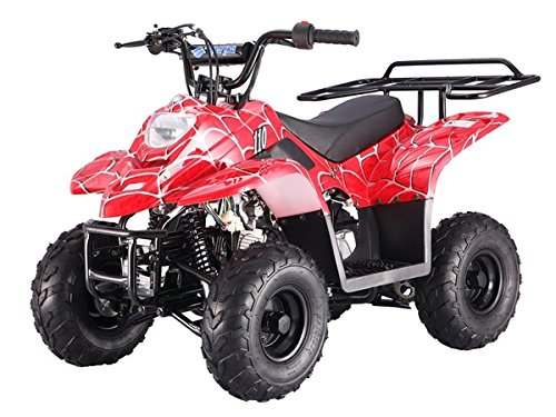 110cc Four Wheelers 6'' Tires Atvs, Spider Black by MOUNTOPZ