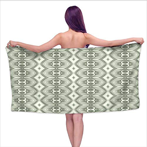 Denruny Bath Towels Extra Large Seamless Wallpaper pattern16,W28 xL55 for Beach