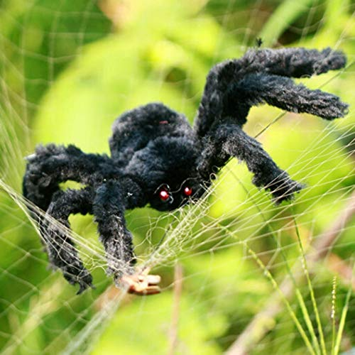 SaveStore 30cm-200cm Super Big Wire Plush Material Spider Realistic Black Horrible Fake Spiders Toy Home Party Halloween Props Decoration