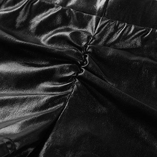 9609bad04 Agoky Women s Faux Leather Satin Boyshorts Panties High Waisted Booty  Shorts Mini Pants Clubwear Underwear
