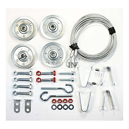 Extension Spring Pulley and Safety Cable Kit Containment and Sheave Garage Door - Extension Kit