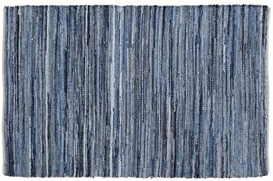 VHC Brands Home and Kitchen – Denim Hemp Chindi Rag Rug Rect 20×30
