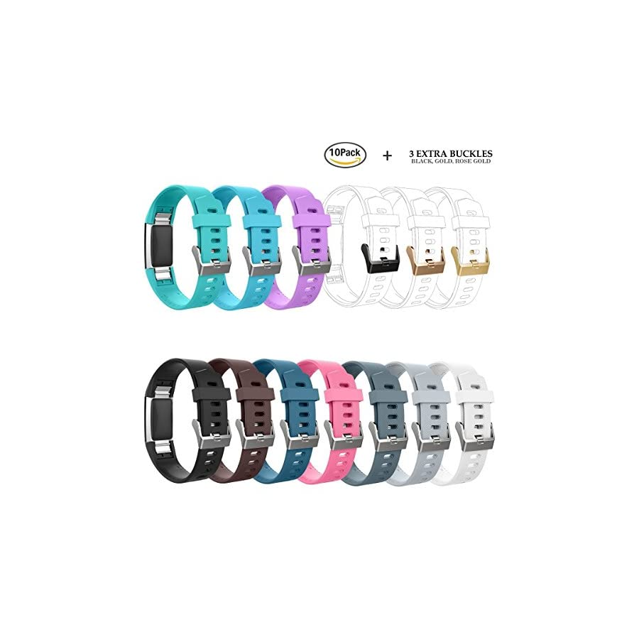 AIUNIT Compatible Fitbit Charge 2 Bands Applicable for Fitbit Charge 2 Accessories Bands Small/Large Wristbands for Fitbit Charge 2 Bracelet Strap Band Suitable for Women Men Boys Girls