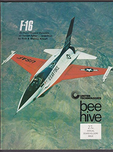 bee-hive-united-technologies-27th-annual-shareholders-issue-f-16-fighter-1975-
