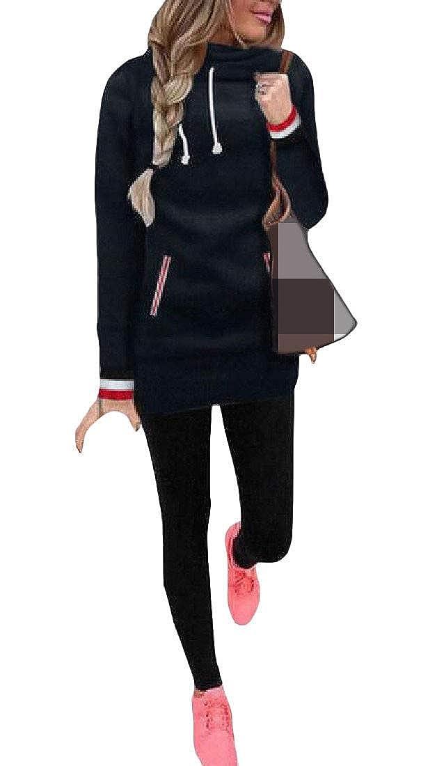 Joe Wenko Womens Casual Fit Hooded Pullover Pocket Drawstring Sweatshirts