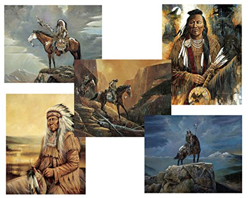 7 Native American Indian Art Prints Chief Western Decor Poster