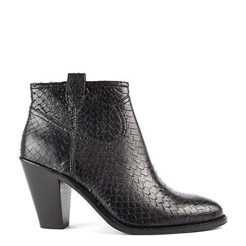 fedf09ae34 Caliente de la venta Ash Zapatos Ivana Botines de Cuero Negro Mujer ...