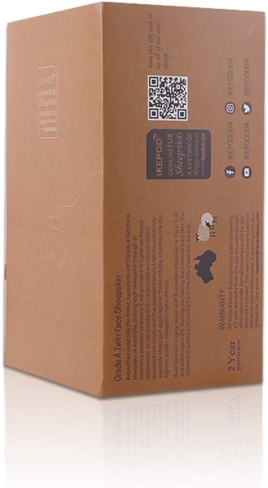 IKEPOD Classico Australiano paraorecchie in pelle di pecora Unisex caldo Invernali Scaldini per le orecchie in Lana da Uomini//Donne