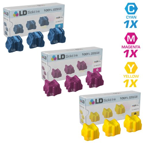 - LD Compatible Solid Ink ColorStix Replacement for Xerox Phaser 8560 (3 Cyan, 3 Magenta, 3 Yellow, 9-Pack)
