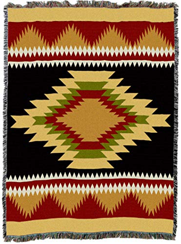 Pure Country Weavers | Espanola Southwest Blanket | Woven Throw with Fringe Cotton USA ()