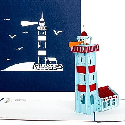 Pop Up Karte Leuchtturm Maritime 3d Geburtstagskarte