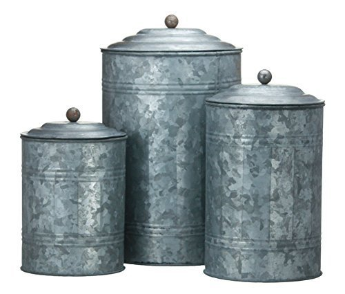 kitchen canister set metal - 5