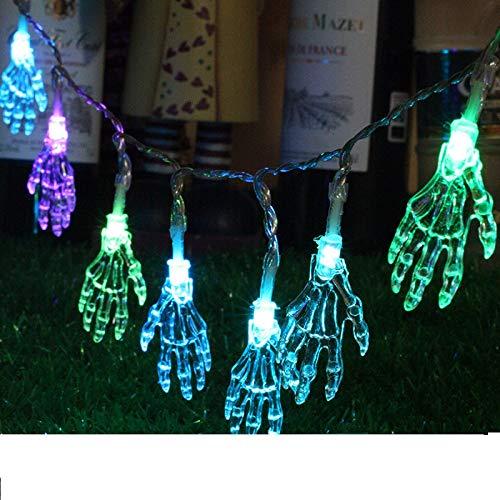Zhoyea Durable Halloween Light String Decoration LED Hand Bone Lights Indoor/Outdoor Garden Party Decor ()