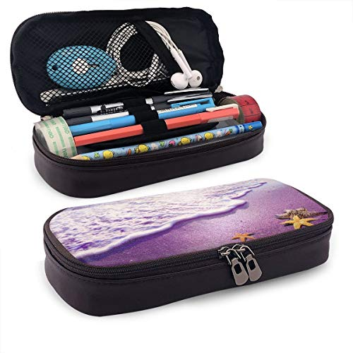 Pen Pencil Case PU Leather Scenery Landscape Zippered Pouch for Teens Storage Middle School Stationery Bag Holder…