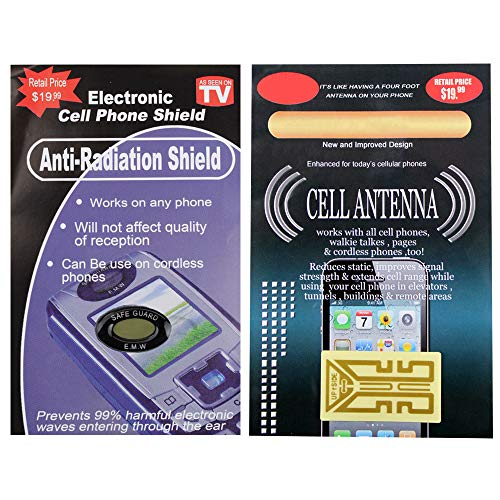 2 pc Antenna Boosters Anti Radiation Shield for Cell Phones Tablets Walkie Talkies Cordless Home Phones by Fenzer (Image #1)