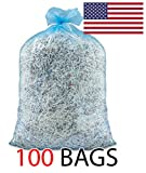 Ox Plastics 55 Gallon Recycle Bags, 36 X 52, 1.5 mil Strength, MADE IN USA (100, Blue)