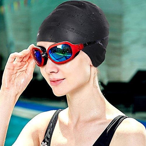 TOPLUS Swim Cap, Silicone Solid Swimming Caps