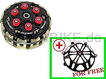 antihopping Negro Duca Bike 6 plumas rojas embrague para DUCATI: Amazon.es: Coche y moto