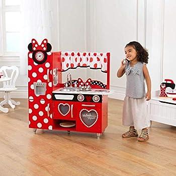 Amazon Com Disney Jr Minnie Mouse Vintage Kitchen Play