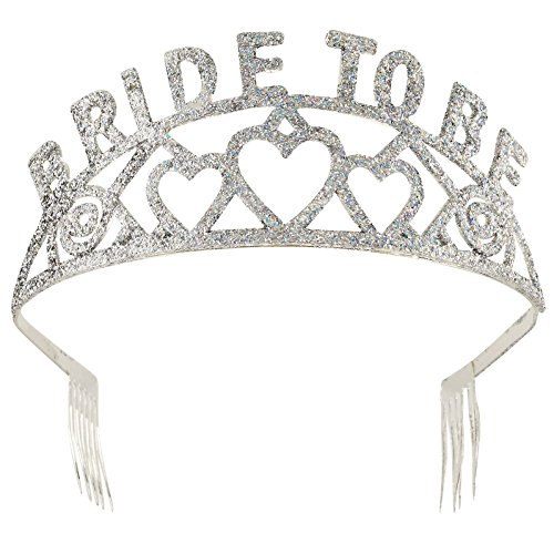 Forum Novelties Glitter Tiara (Bride to - Gras Mardi Shower Bridal