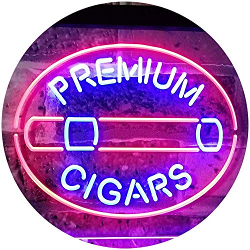 - ADVPRO Premium Cigars Display Dual Color LED Neon Sign Red & Blue 16 x 12 Inches st6s43-i2389-rb