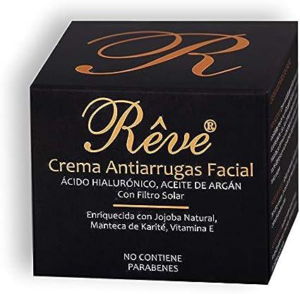 REVE Crema Antiarrugas Facial Argan con Ácido Hialurónico + ...