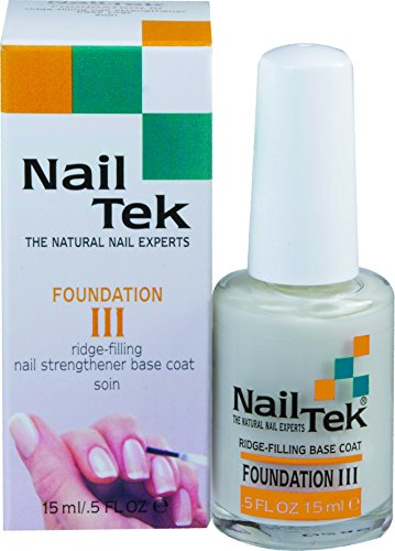 Nailtek Foundation No.3 Ridge-Filling Nail Strengthener Base Coat, 0.5 Fluid Ounce