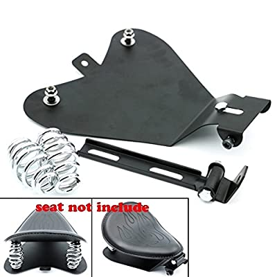 HANSWD Motorcycle Black Metal Solo Seat Baseplate For Sportster XL883/1200: Automotive