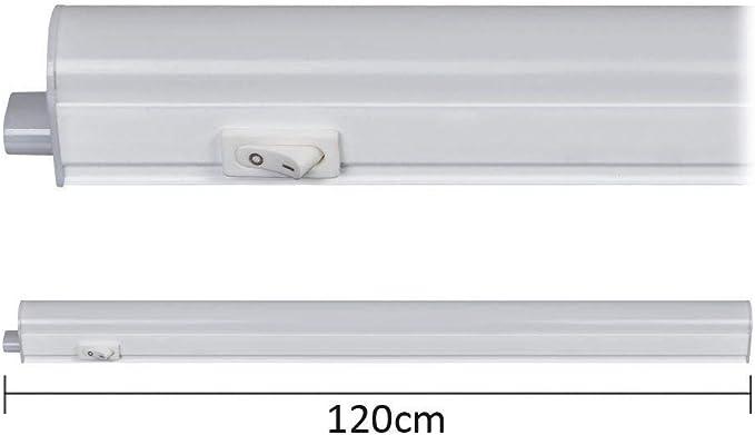 PLAFONIERA BARRA LED REGLETTA T5 120cm 14W 4000K 220V CON INTERRUTTORE SOTTOPENSILE