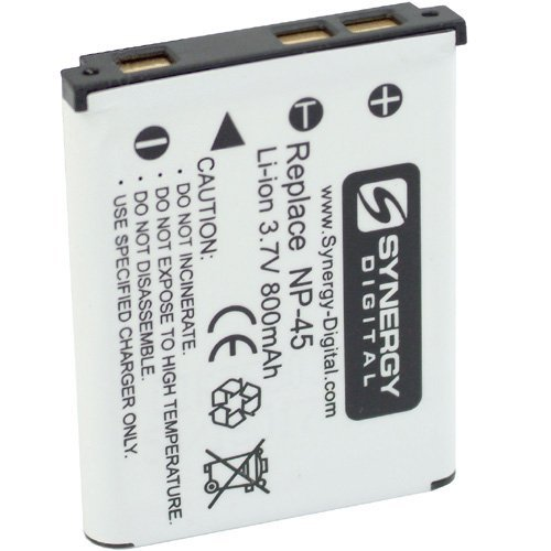 Fujifilm Finepix Z33 WP Digital Camera Battery Lithium-Ion (800 mAh) - Replacement for Fuji NP-45, NP-45A Battery 800 Mah Fuji Battery