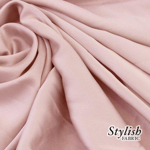Pink Crepe Back Satin - 5