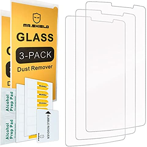 [3-PACK]- Mr Shield For ZTE MAX XL [Tempered Glass] Screen Protector [0.3mm Ultra Thin 9H Hardness 2.5D Round Edge] with Lifetime Replacement (Zte Phones Protector)