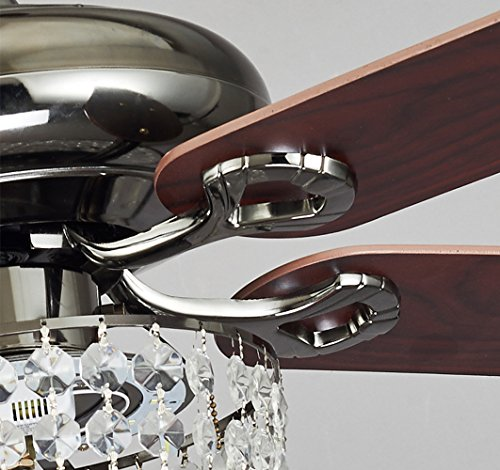 Akronfire Crystal Ceiling Fan Light for Dining Room and Living Room Remote Control The Modern Luxury Fan with LED Fan Lamp (Brown) (42 Inch) by Akron Fire (Image #4)