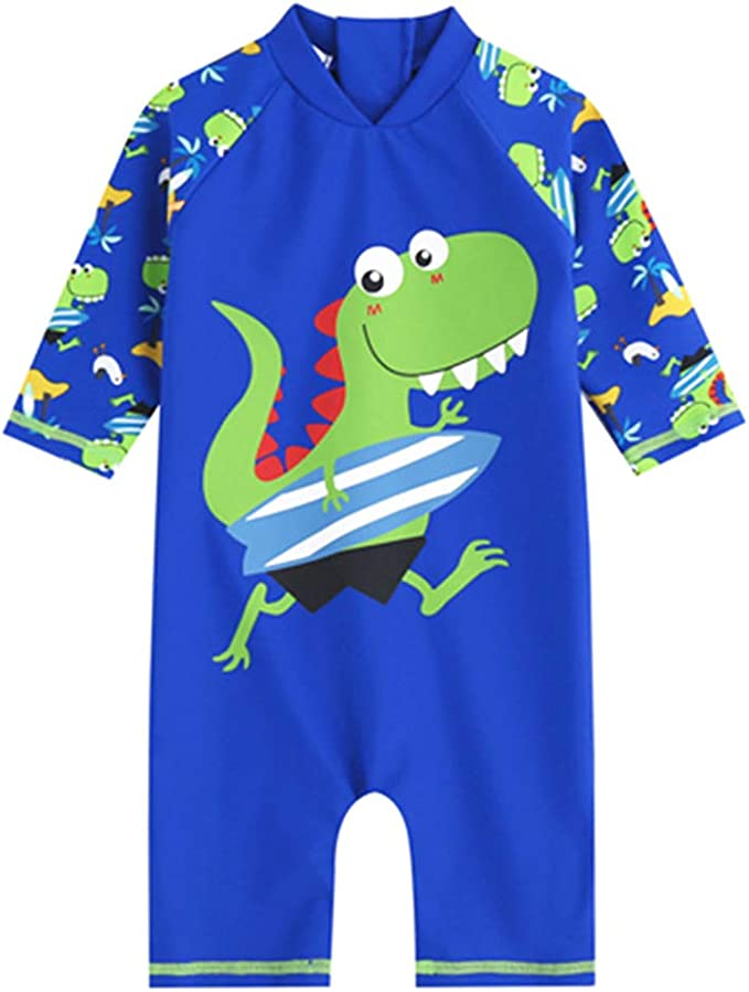 Baby//Toddler One Piece Zipper Sunsuits UPF 50 Sun Protection Beach Sunsuits