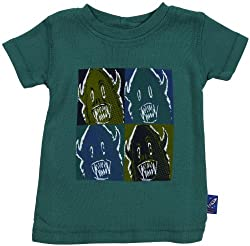 Charlie Rocket Monster T-Shirt (Baby) - Green-3-6 Months