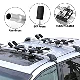 XCAR Folding Rooftop Kayak Racks Set with 4pcs