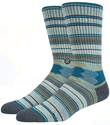 New Stance Men's Guadalupe Sock Cotton Mesh Spandex Grey/Taupe, Large from Stance