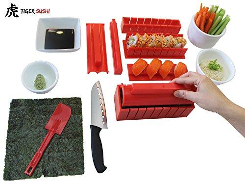 sushi making kit tigersushi next gen 11 piece sushi set sushi import it all. Black Bedroom Furniture Sets. Home Design Ideas
