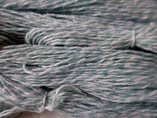 Country Twist (Country Twist Sage Green and White 100% Cotton Fingering Weight Crochet Knitting Yarn)