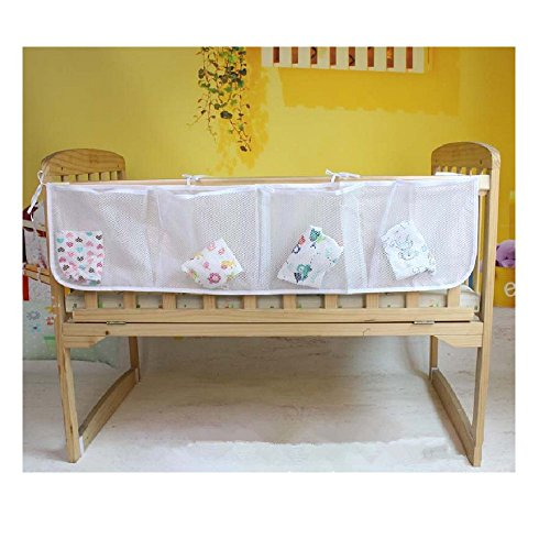 Moon's Habour Multi-purpose Baby Clothes Receive Bag & The Crib Large Capacity to Hang & Bag Grid Mesh Breathable Stuff Bag